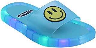 Hopscotch FEETWELL Shoes Boys and Girls Plastic LED Flip Flops in Blue Color