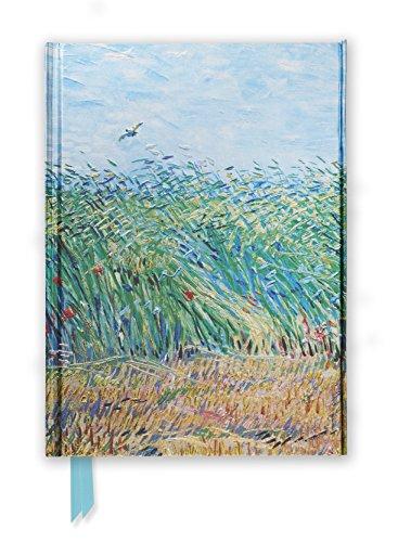 Premium Notizbuch DIN A5: Vincent van Gogh, Getreidefeld mit Mohnblumen und Lerche: Unser hochwertiges, liniertes Blankbook mit festem, künstlerisch ... Notizbuch DIN A 5 mit Magnetverschluss)