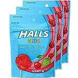Halls Kids Cough & Sore Throat Cherry Pops,10 Pops Each (Pack of 2)