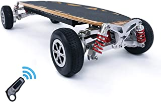 Electric Extreme Sport Skateboard, Off-Road Cruise Scooter Car with Remote Controller, 21 MPH Top Speed, 18.6 Miles Max Range, 1100W Motor, Double Drive Four Wheel Vacuum Tire Longboard