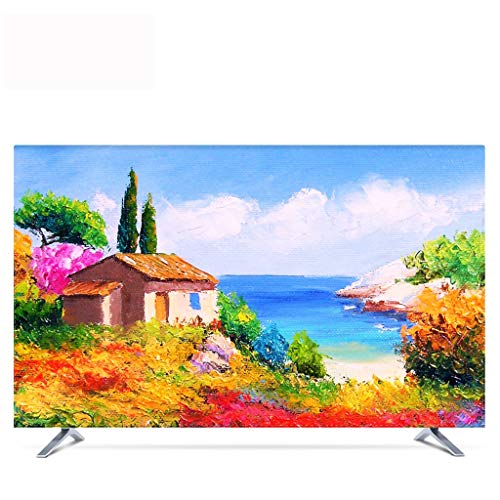 TV Cover Dust Cover, Town Hanging 55 Inch 50 Curved Surface 65 European Cover Fabric Computer TV Set Wall Hanging (Size : 32in)