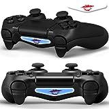 2x LED Sticker 2x Thumb Grips für PlayStation 4 Controller Light Bar Decal Skin Sticker – Kiss...