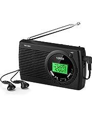 YOREK 高感度ラジオ 小型FM/AM/SWポケットラジオ ワイドFM対応ポータブルラジオ 電池式携帯ラジオ オートオフ機能付きステレオイヤホン付属する( 日本語取説付き,1