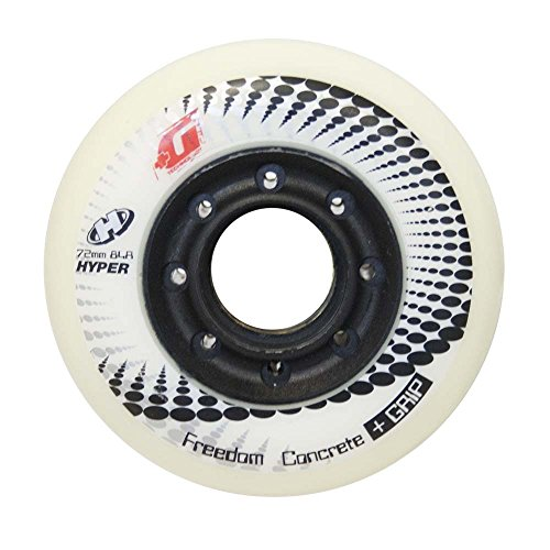 Hyper Concrete +G 4er Pack Inliner Rollen für Skates 76mm/84A, Inline-Skates-Komponente, Sport & Freizeit - Weiß/Schwarz