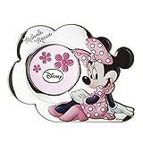 'Bilderrahmen 'Minnie Mouse in Silber und technische Details Gemälde mit 3d. Rückseite aus Holz weiß.