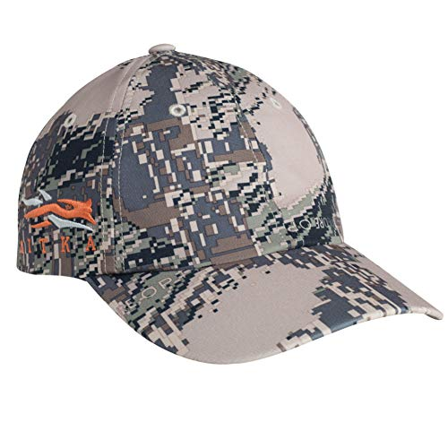 SITKA Gear 90102 Hunting Breathable Camo Cap with Embroidered Side Logo, Optifade Open Country, One Size