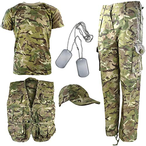 Kombat UK Kinder BTP Camouflage Explorer Armee Set 11-12 Jahre British Terrain Pattern