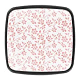 Coral Red Flowers Pattern-01Crystal - Pomos para cajones (4 piezas)