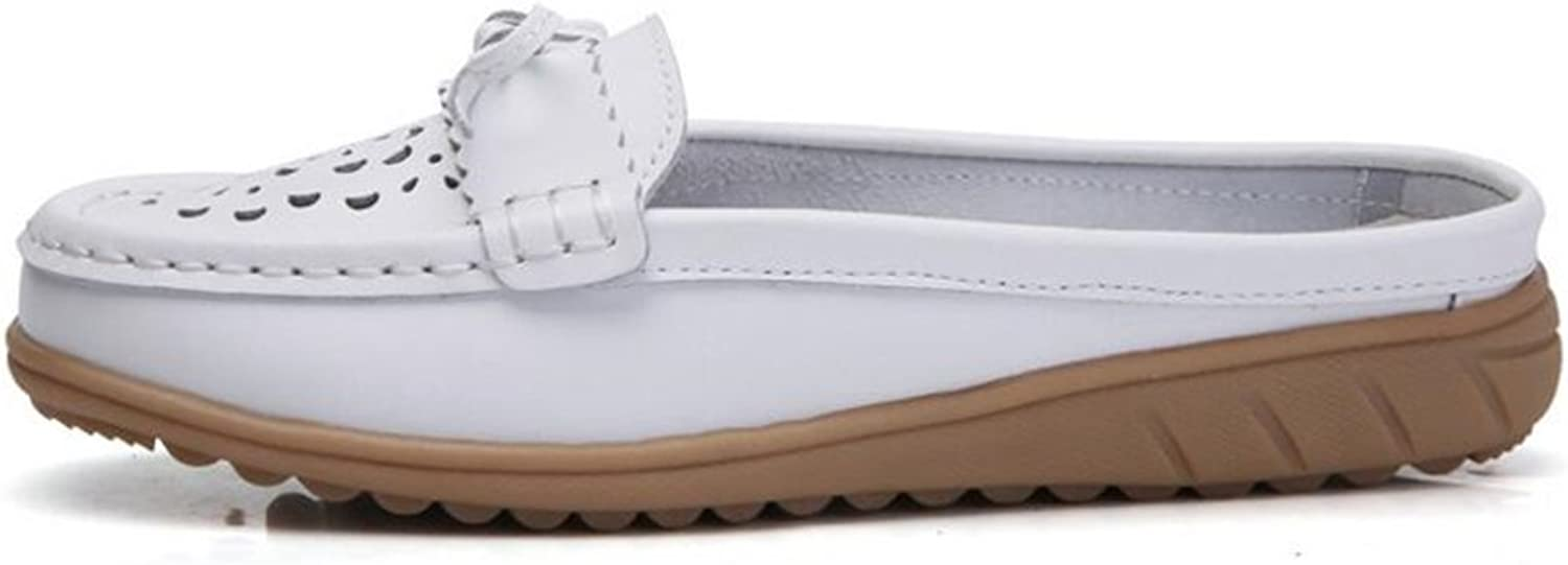 Bon Soir Women's Casual Leather shoes Loafers Slip-On Slippers