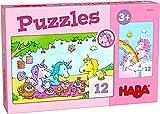 HABA- Puzzles Unicornio Destello – Rosalía y Sus Amigos Infantil, Multicolor (306164)