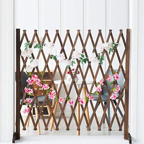 Plant bloem display standaard massief houten eetkamer partitie bloemenrekken woonkamer binnenbalkon decoratie hond houten hek hek huisdier outdoor binnen