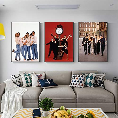 Geiqianjiumai Freunde TV Show Poster Retro Drama Film Teen Malerei Raumdekoration dekorative Malerei Wandkunst Salon rahmenlose Malerei 30X45CM