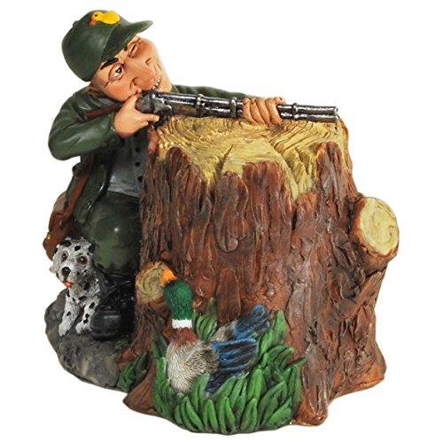 tolles, riesiges Sparschwein, Spardose Modell Jäger mit Gewehr