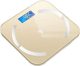 Báscula de baño digital Escala electrónica inteligente, pantalla LED, puede medir temperatura ambiental, se puede utilizar for la Medición de Peso báscula peso corporal (Color : C)