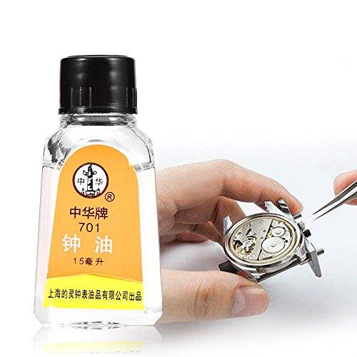 Sonew Relojes Aceite lubricante, Aceite 100% sintético para lubricar los Relojes de su Abuelo Herramienta de Mantenimiento de reparación Restaura y afloja los Movimientos del Reloj Liberty Oil