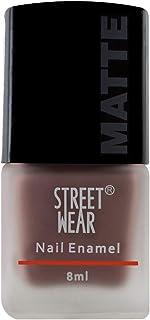 Street Wear Matte Nail Enamel, Warm Brown, 8ml