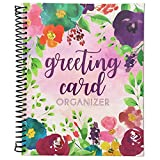 Sustainable Greetings Floral Greeting Card Organizer Book – 10 x 8.5 Inches