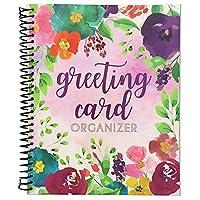 Sustainable Greetings フローラルグリーティングカードオーガナイザーブック – 10 x 8.5インチ
