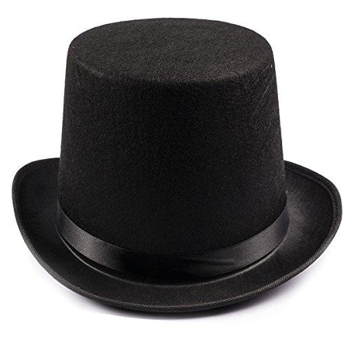 Funny Party Hats Black Felt Top Costume Hat (Black - 1 Pack)