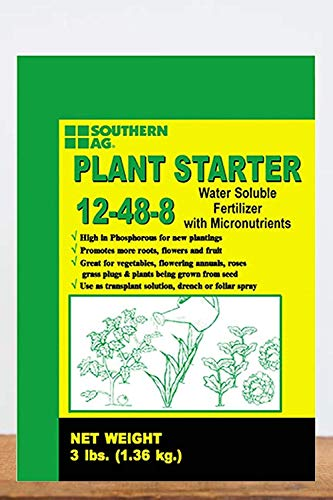 Southern Ag Plant Starter Soluble Fertilizer 12-48-8 in 3 Pound Bags