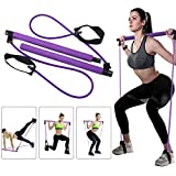 Greymond Portable Pilates Bar Kit Yoga Pilates Stick Muscle Toning Bar with...