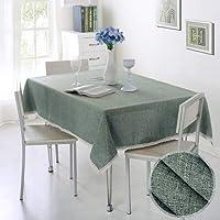 テーブルクロス 新しいソリッドカラー装飾的なテーブルクロス模造模様リネンレーステーブルクロスダイニングテーブルカバー家の装飾 (Color : Fangmayayun, Specification : 100cmX140cm)