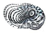 WorldaWhirl Whirligig 3D Wind Spinner Hand Paint Stainless Steel Motorcycle Bike (12' Inch, Multi Color)