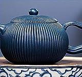 ZQADTU Tetera Hecha a Mano Juego de té Tetera Tetera de Arcilla púrpura Estilo Tetera de Novedad Se Puede Usar en el hogar o en Casas de té Profesionales Tetera Exquisita