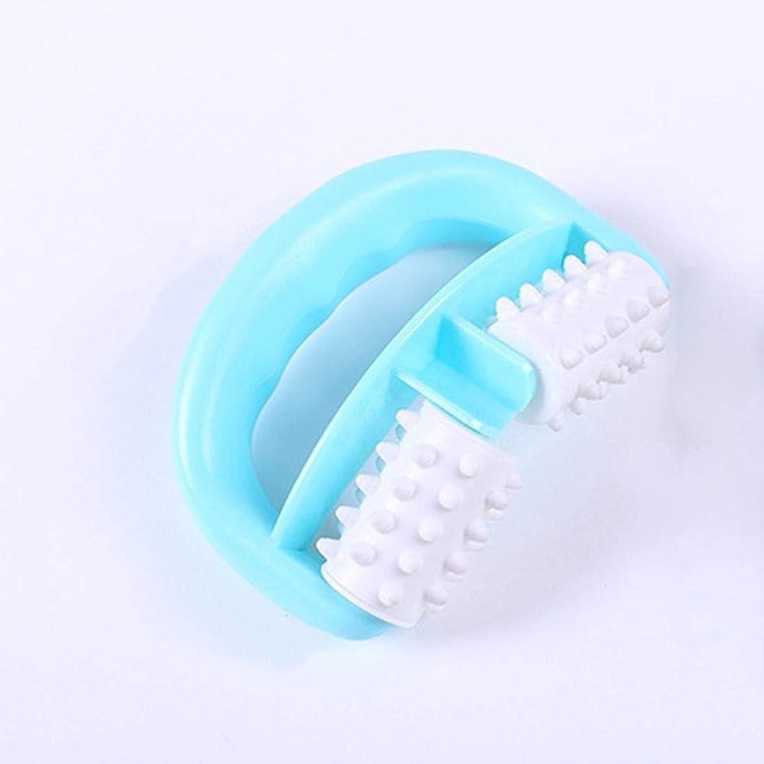 瞑想的症候群作家LVESHOP プラスチック手動ラウンドハンドルマッスルマッサージボディローラーマッサージャー脚の腕のセルライトローラー
