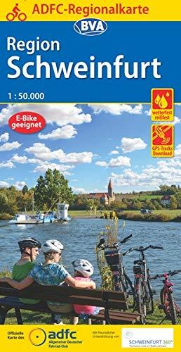 ADFC-Regionalkarte Schweinfurt, 1:50.000, reiß- und wetterfest, GPS-Tracks Download (ADFC-Regionalkarte 1:50000)