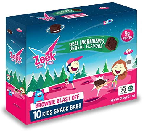 Zeek Kids Protein Bars- High Protein, Low Sugar Snack Bar for Kids. Picky Eater Approved and Real Ingredients! Great for Lunch Box, After School, or Before Practice! Gluten Free, Soy Free