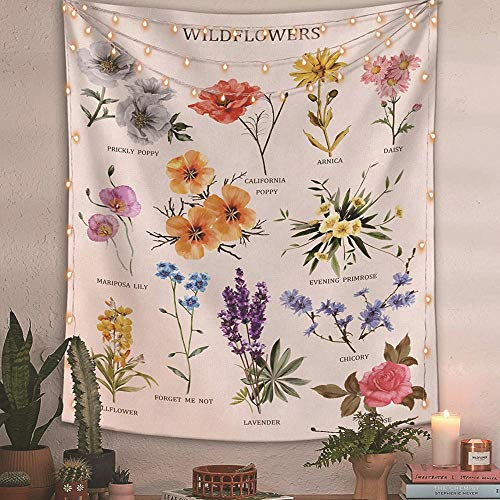 """GTAOUR Digital Printing Flowers, Teaching Series, Home Decoration Wall Covering Photography Background Cloth Bedroom Tapestries-(130 X 150 cm(51"""" X 59"""")"""
