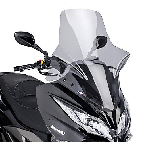 Puig 7020H Windschutzscheibe Cockpitverkleidung Touring für Maxiscooter Kawasaki J300 2014-2015, Getönt, Medium