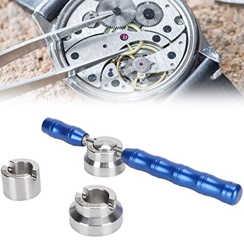 Juego de abridor de reloj, abridor de caja de reloj herramienta para quitar la espalda de reloj juego de troqueles removedor de cubierta de aleación herramienta de reparación de reloj