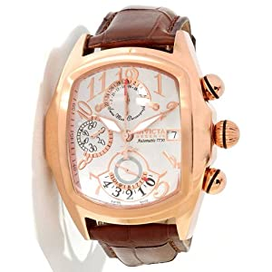 Invicta Lupah Chronograph Silver Dial Rose Gold-tone PVD Mens Watch 12619 image