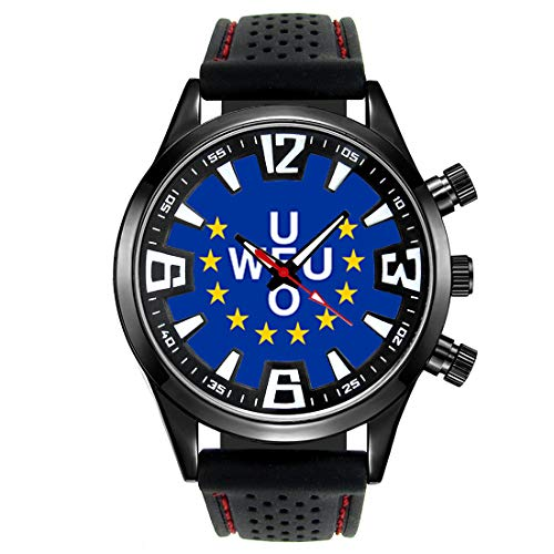 Timest - Western European Union Country Flag - Men's Wrist Watch with...