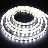 XUNATA 2m Tira de LED Regulable Blanco frio, 220V 5050 LED SMD 60 Unidades/m Luz Cuerda Dimmable, IP67 Impermeable para...