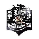 Reloj de Pared Moderno silencioso, Reloj de Pared Retro Record, Decoración de Dormitorio de Estudio de Sala de Estar, decoración del hogar. Lavadora Cesta de lavandería