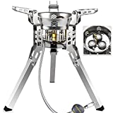 Camp Strong Power 6800W Gas Stove,Small Portable Butane Propane Stove Three Burners,Stainless Steel Outdoor Mini Backpack Windproof Stove to Hike Fish Hunt Travel Trip Boat Car RV.