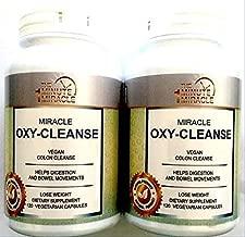 Miracle Oxy-Cleanse Vegan Colon Cleanser - 2 Bottles - 120 Vegatarian Capsules Per Bottle