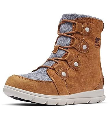 Sorel Women's Explorer Joan Boot - Light Rain, Snow - Waterproof - Felt, Camel Brown - Size 8