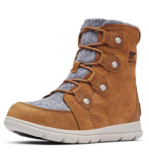 Sorel Women's Explorer Joan Boot - Light Rain, Snow - Waterproof - Felt, Camel Brown - Size 9