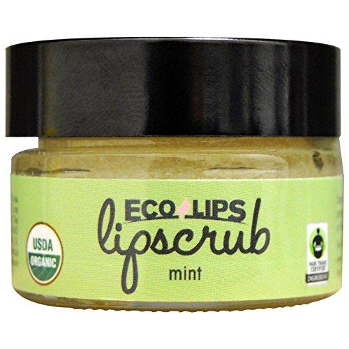 ECO Lips Lip Scrub, Menthe, Bio