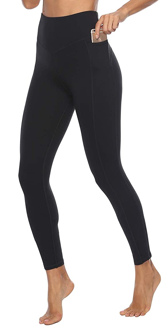 Yoga Capris & Pants for Women High Waisted - Butt Lift - Non See Through Soft Athletic Workout Leggings with Pockets