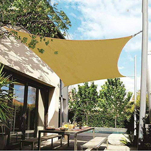 2,5 x 3 M toldo de la Vela de la Sombra Solar Impermeable con un Efecto Protector Solar al 95%, Vela de Sol para el Patio al Aire Libre Garde, Rectángulo