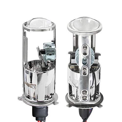 PMWLKJ 2 Stück H4 Hallo-lo Mini Projektor -Objektiv -Xenon -Birne 55w 8400lm für Auto -Scheinwerfer Hallo/lo Strahls 4300k 6000k 8000k Ac 12v 4300KWarm White Right Hand -Treiber
