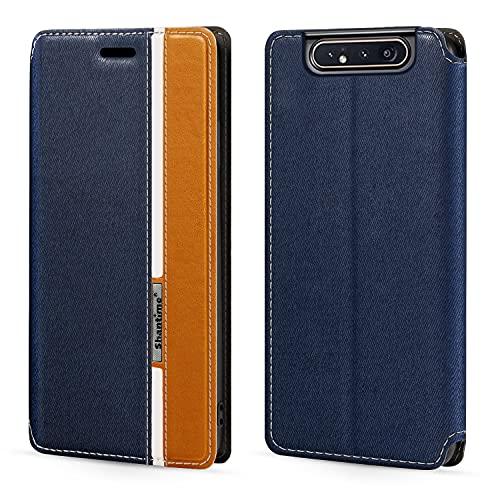 Capa para Samsung Galaxy A80, capa flip de couro com fecho magnético multicolorida moderna com porta-cartão para Samsung Galaxy A90 (6,5 polegadas)