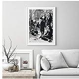Religieuses impression noir et blanc photographie affiche nonnes fumer mur Art photo toile peinture maison chambre décoration murale 50x70 cm sans cadre
