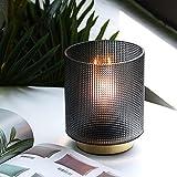 MJ PREMIER Set di 2 lampade da tavolo a batteria, lampada da comodino decorativa senza fili, con timer, lampada da tavolo per camera da letto, soggiorno, decorazione della casa, tavolo o regalo grigio