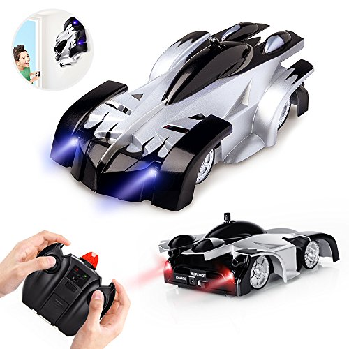 Remote Control Car Toys for Kids, Wall Climbing Rc Cars with Dual Mode 360°Rotating Stunt Rechargeable High Speed Vehicle with Led Light for Boys Girls (Car)